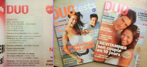 Magazines DUO  - Les Mondes de Carole-Anne